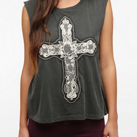 Urban Outfitters - Truly Madly Deeply Touch Of Lace Muscle Tee