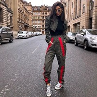 Patchwork Casual Fashion With Pocket Training Pants [1449743679585]