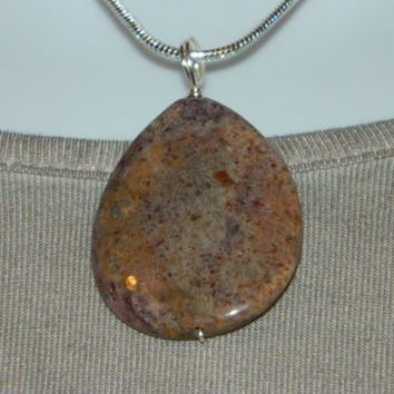 60ct. Mixed Stone, Semi Precious, Agate, Pendant, Necklace, Teardrop, Natural Stone, 115-15