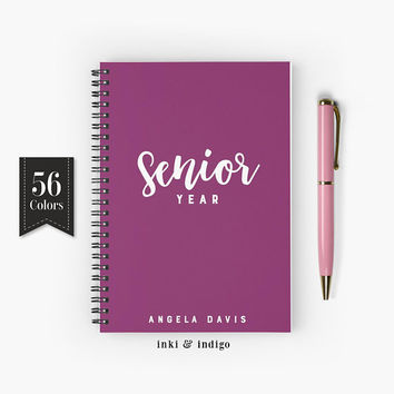 Senior Year - Spiral Notebook, Lined Journal, A5 Writing Journal, Diary, Personalized Notebook, Gift For Students, High School, College