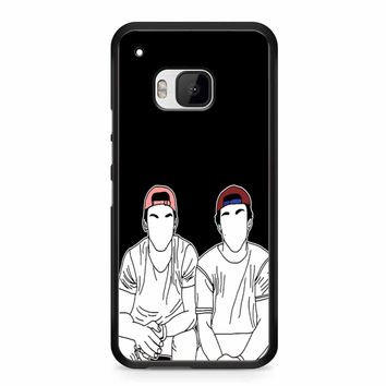 Dolan Twins Stencil Coloured Hats HTC M9 Case