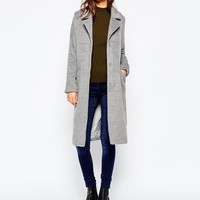 Brave Soul Double Breasted Fitted Coat