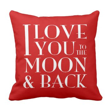 Custom Color I Love you to the moon & back Pillows