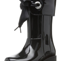 Igor Girl's W10114 Black Campera Charol Rain Boot