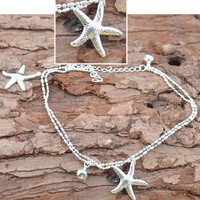 1Pc Trendy Women Starfish Anklet Foot Chain Sea Star Ankle Barefoot Beach Bracelet