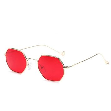 861503c385 Fashion Women Sunglasses Small frame polygon Clear lens Sunglass