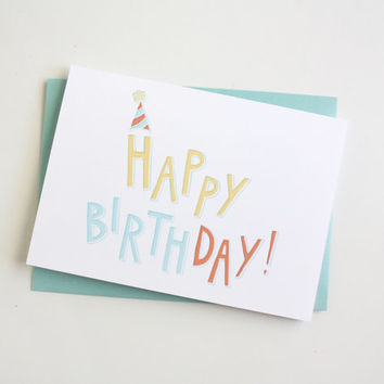 Happy Birthday Party Letters Card