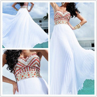 Attractive A-line Chiffon Floor Length Prom Dresses from sweetheart dresses