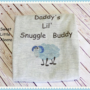 Baby Boy Bodysuit, Boys Coming Home Outfit, Take Me Home, Gray Blue Sheep Bodysuit, Newborn Boy  Clothes, Bodysuit, Daddy's Little Buddy