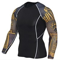 Men's Compression Long Sleeves Activewear Sports T shirt