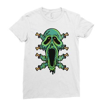zombie smile Ladies Fitted T-Shirt