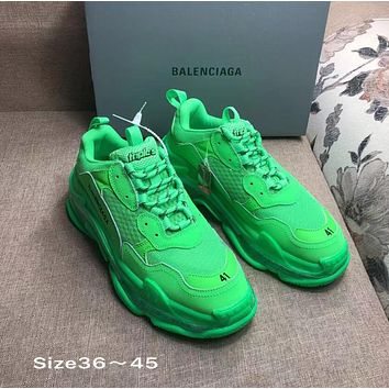 GREEN BALENCIAGA SNEAKERS SHOES FOR WOMEN MEN GIFT