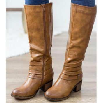 Supreme Riding Boot In Amber Distressed By Corkys