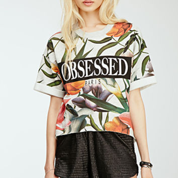 Obsessed Floral Sweatshirt