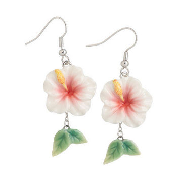 Franz Collection Island Beauty Hibiscus Earrings