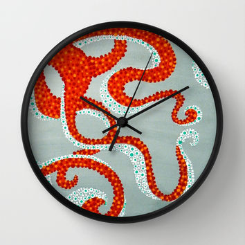 OCTOPUS Wall Clock by Madeleine Thoma