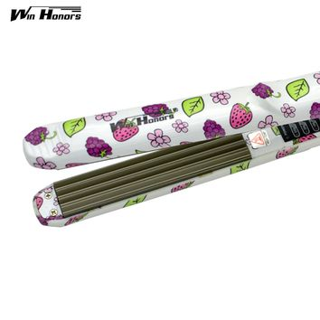 Best Quality Wave Hair Straightener Crimper Fluffy Styling Tools Chapinha Titanium Professional Corrugated Curling Iron