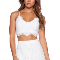 Miguelina Zoe Top in Pure White