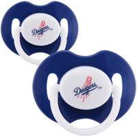 L.A. Dodgers 2-Pack Team Logo Pacifiers