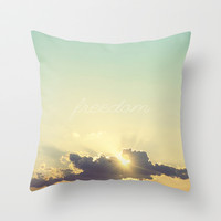 Freedom Throw Pillow by Libertad Leal Photography