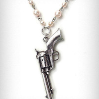Pearl Revolver Necklace