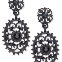 Downton Abbey Earrings, Jet-Tone Filigree and Crystal Accent Drop Earrings - Fashion Earrings - Jewelry & Watches - Macy's