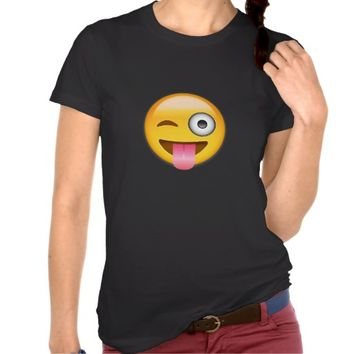 EMOJI FACE WITH STUCK OUT TONGUE AND WINKING EYE