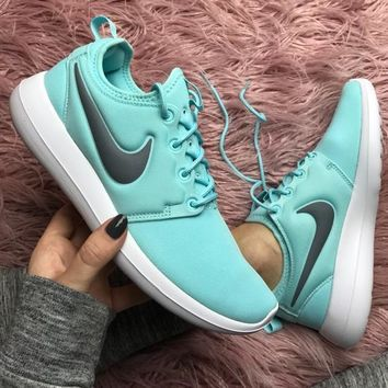 Tagre™ Nike roshe two Tiffany blue Shoes Sneakers
