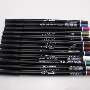 12 Color Waterproof Eyeliner Pencils