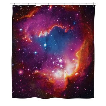 Cosmic Forces Shower Curtain