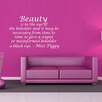 Miss Piggy quote wall sticker decal mural by 60SecondMakeover