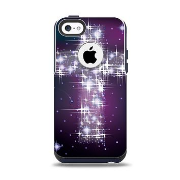 The Glowing Starry Cross Apple iPhone 5c Otterbox Commuter Case Skin Set