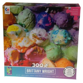 Ceaco Colorful Ice Cream Brittany Wright Jigsaw Puzzle 300 Pc Puzzles 19x19 2251