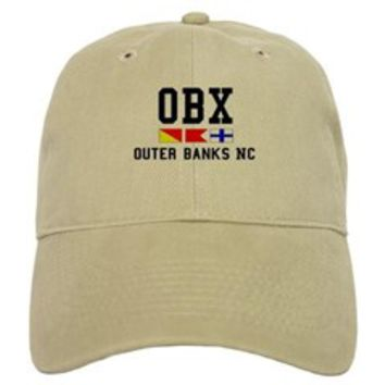 Outer Banks NC - Nautical Design Baseball Cap> Outer Banks NC > Beach Tshirts.