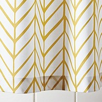 Feather Shower Curtain – Mustard | Serena & Lily