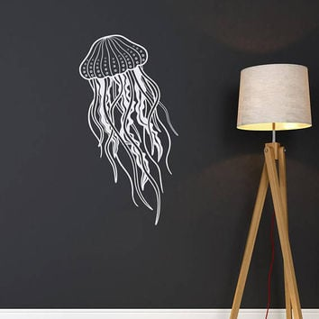 Jellyfish Removable Vinyl Wall Decal- Sea Ocean Wall Decal- Sea Animal Wall Decal Nursery Bathroom Nautical Themed Jelly Fish Decor #150