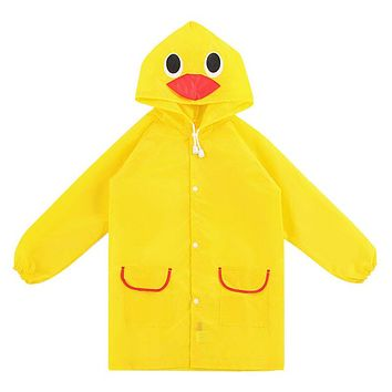 2017 Poncho New Waterproof Kids Rain Coat For children Raincoat Rainwear Rainsuit Kids Boy Girl Animal Style Raincoat F05