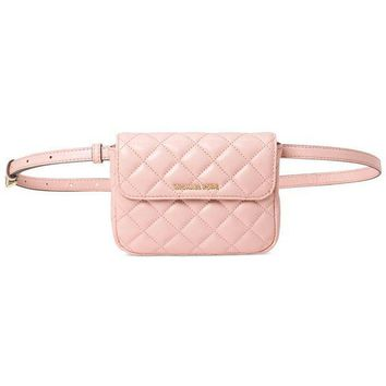 CREYIX5 NEW AUTHENTIC MICHAEL KORS SLOAN SMALL BELT WAIST QUILTED SOFT LEATHER BAG
