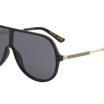 Gucci GG0199S Plastic Shield Sunglasses