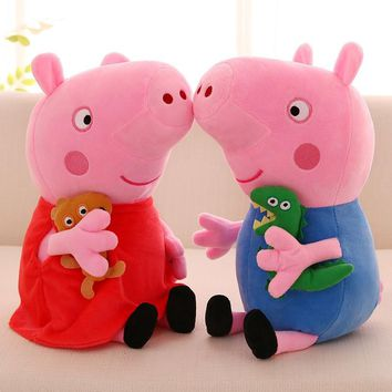 Peppa Pig George Family friends Plush Toys Soft Stuffed Cartoon Animal Doll for Children's Family Party