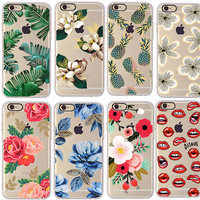 Cherry pineapple Banana leaf Flower Cactus rose peony Case Cover For Apple iphone 6 6s 4.7 / 6 plus 5.5 inch Soft TPU Case Daisy