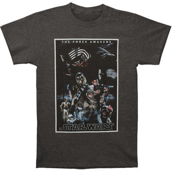 Star Wars Men's  Poster T-shirt Charcoal Rockabilia