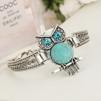 Owl and Hand circle Bohemian Style Bracelet from SheShopper.com