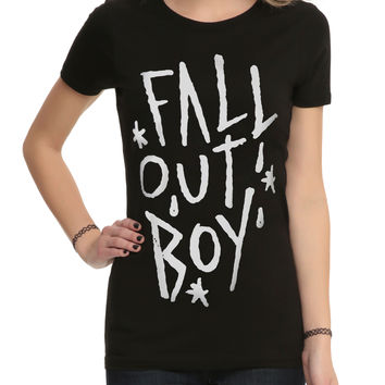 Fall Out Boy Logo Girls T-Shirt