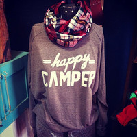 Happy Camper Raglan by greythread on Etsy