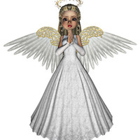 Angel Image, Angel Cutout, 3D Angel Template, Large 3D Angel Graphics Sheet [[Praying Angel]] Transfer Template,Transparent Background,Angel