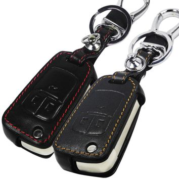 New Car Styling Key Cover For Chevrolet Cruze Camaro Equinox Malibu Sonic Spark Volt Remote Fob 3 Button Leather Case With L0G0