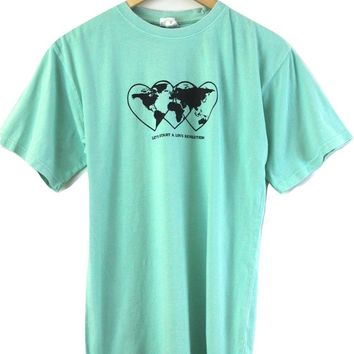 Love Revolution Graphic Mint Oversized Unisex Tee
