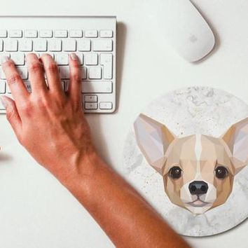 Polygonal Art Chihuahua Mouse Pad Mouse Mat Design