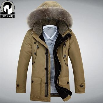 High Quality Winter Jacket Men Thick Warm Casual Down Coat Windproof Hooded Outwear Jackets Men Outwear New Brand Clothin